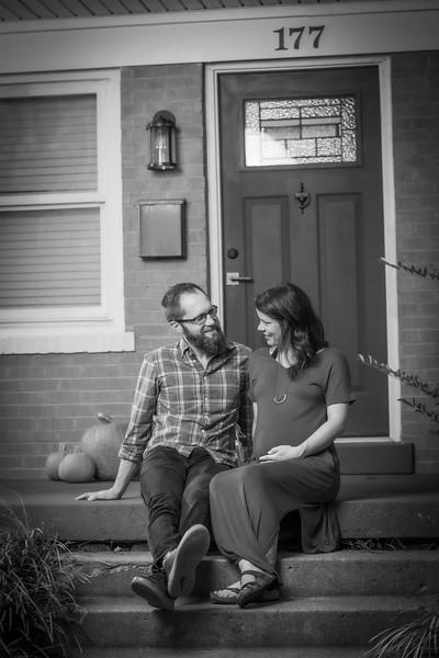 Daniel & Amanda Maternity B&W