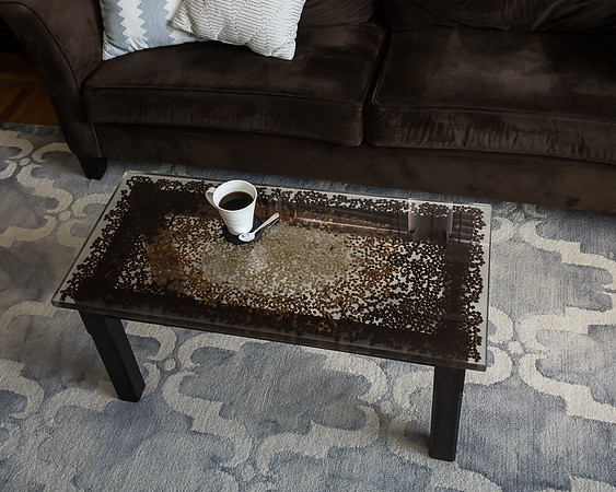 COFFEE TABLE MADE W COFFEE