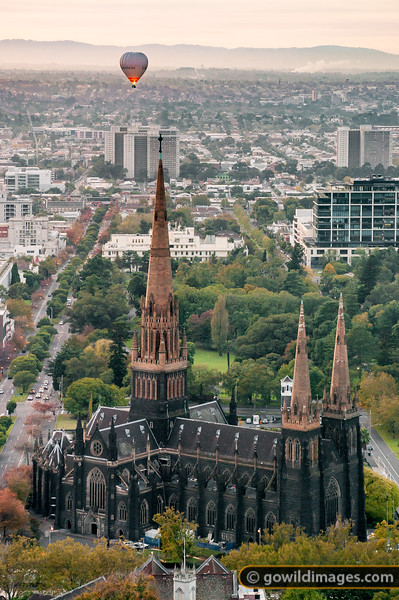 Ballooning over St Patricks Cathedral