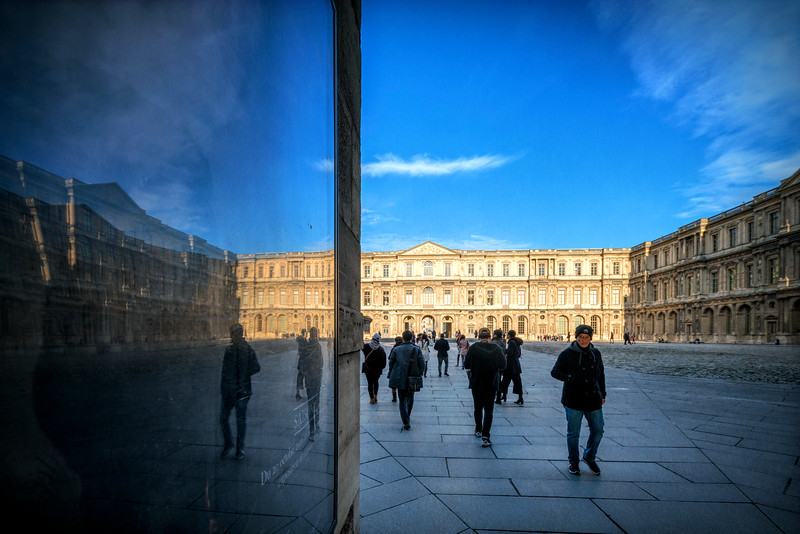 North and East sides of the Cour Carrée, Louvre Museum, Paris, France
