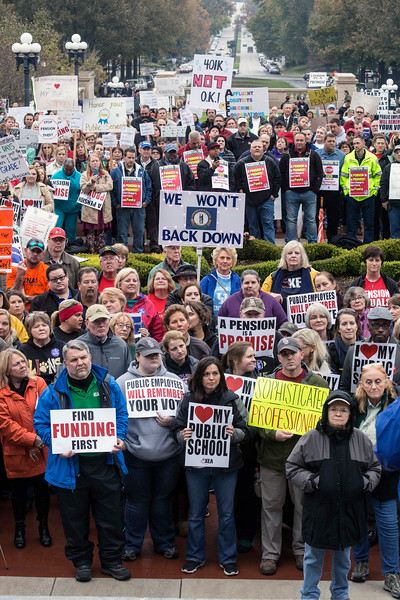 #1667/1668 Fund Our Pension Rally on Frankfort, 11/1/17