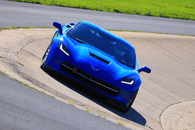 Corvette on the track