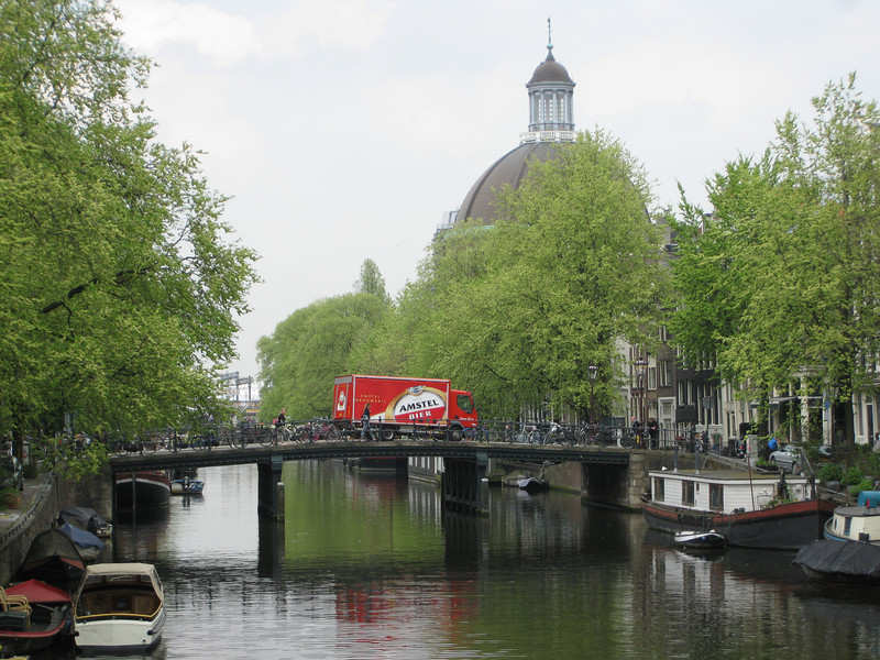 Amstel truck over canal