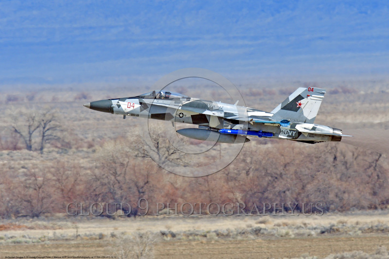 F-18A-USN-VFC-12 0012 A flying McDonnell Douglas F-18A Hornet USN jet fighter VFC-12 FIGHTING OMARS climbing out after take off at NAS Fallon 3-2017 military airplane picture by Peter J Mancus     DONEwt.JPG