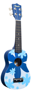 Blue Flower Ukulele