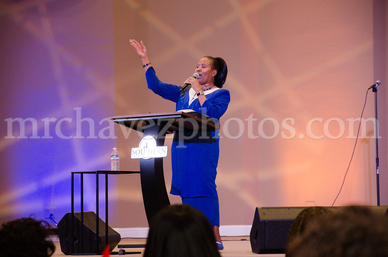 Minister Elaine Manners preaches on Purpose