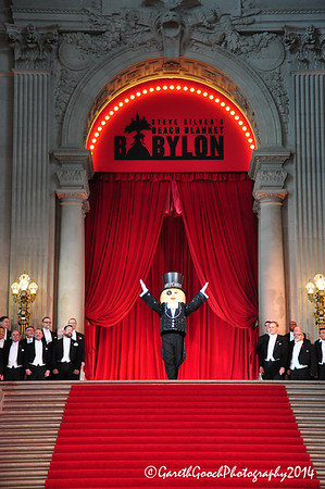 Beach Blanket Babylon, 40th Anniversary, City Hall, San Francisco, 6th June 2014.