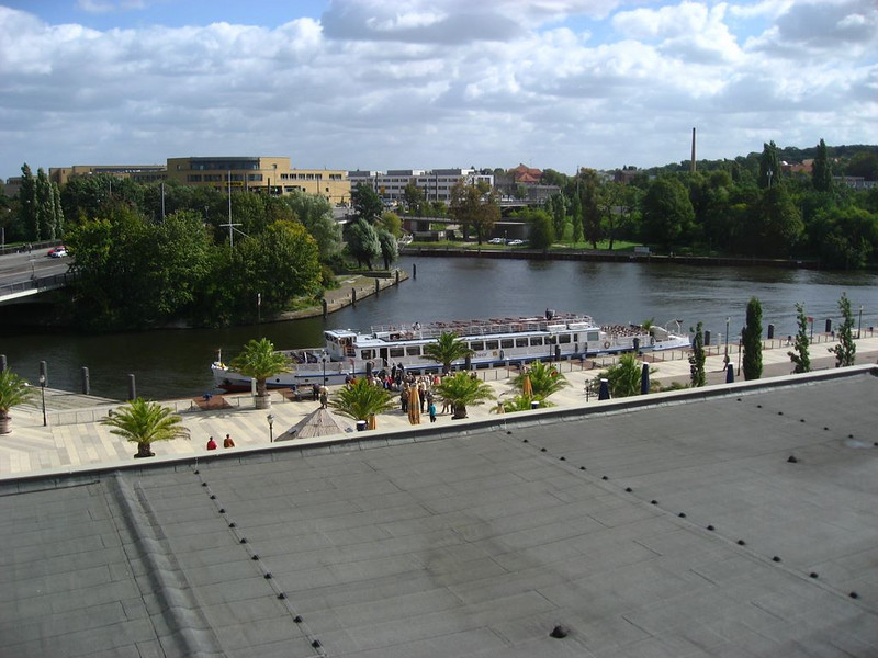 View from our hotel window in Potsdam