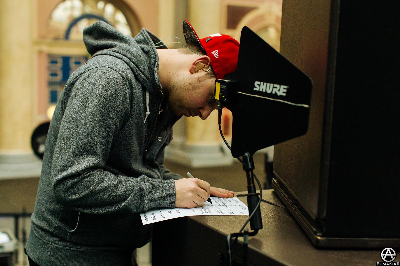 Kevin Skaff Making Adjustments to the set list