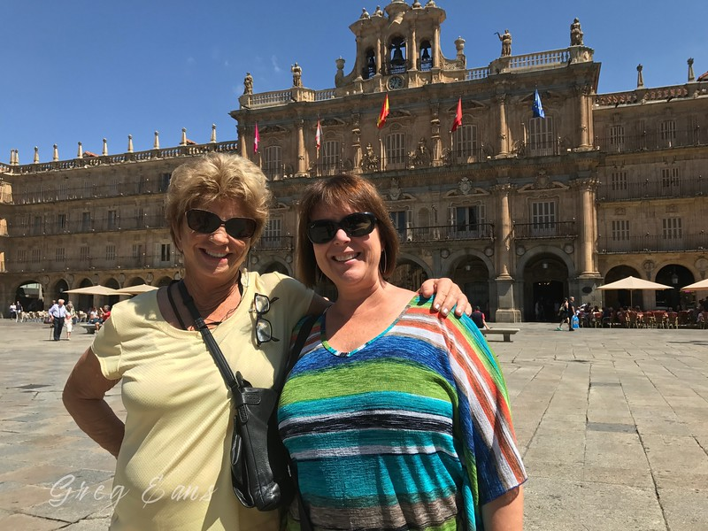 Roddy and Angie at Plaza Mayor, Salamanca. Spain.