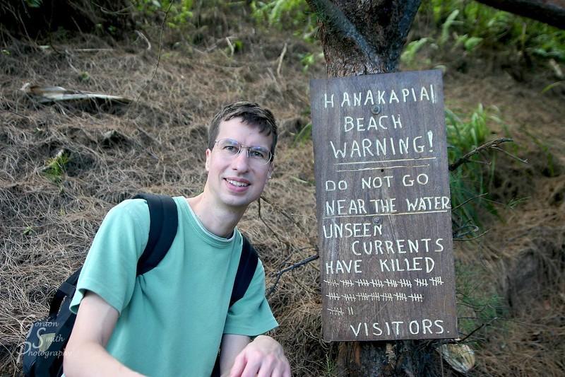 Gordon Smith on the Kalalau Trail, Kauai