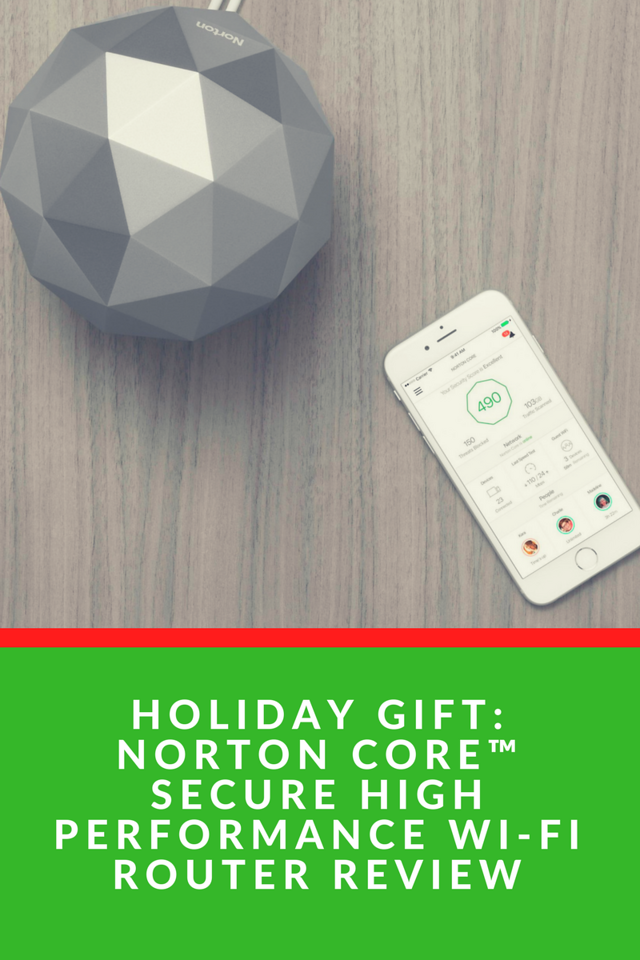 Looking for the perfect holiday gift for older kids, teens, and adults? The Norton Core™ Secure High Performance Wi-Fi Router is the best router we've had and is sure to be the perfect present under the Christmas tree!