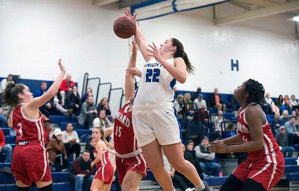 01/06/19 Wesley Bunnell   StaffrrSouthington girls basketball vs Conard on Monday night at Southington High School. Kelley Marshall (22).