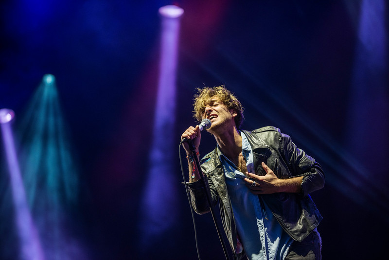 Balado, Kinross - July 12: Paolo Nutini performs on the main stage on Day 2 of  T In The Park Festival. 2014