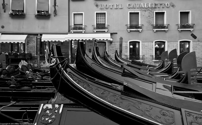 Gondolas at Cavalletto Hotel