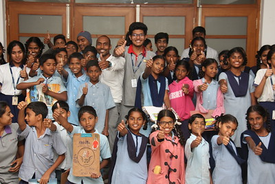 Interact club conducted painting competition for Govt students