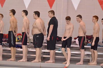 Boys Swimming vs WHS 1-13-15