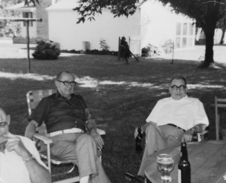 Frank Dodrill and I believe Grandpa's younger brother Bob.  Someone correct me if this is wrong.