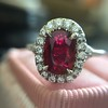 1.52ct Ruby Halo Ring, GIA No Heat 8