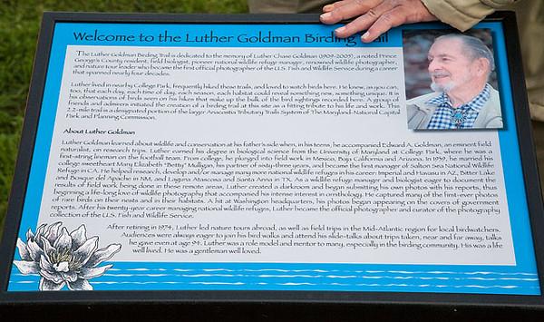 Dedication of Luther Goldman Birding Trail at Lake Artemesia