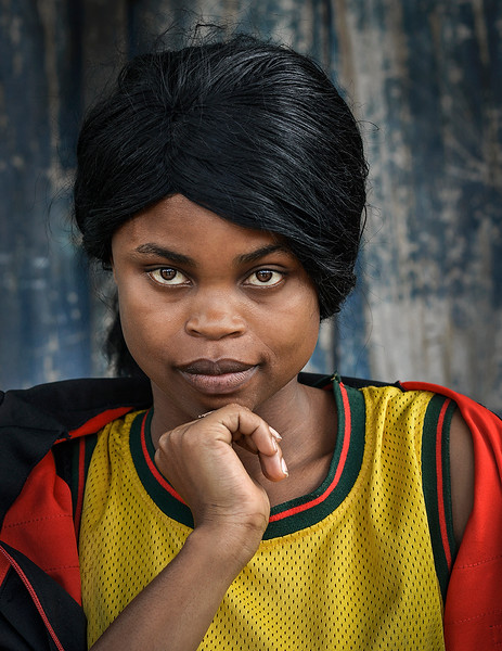Portrait of a local young woman from pangani.  Tanzania, 2019.