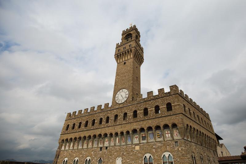 A view of Palazzo Vecchio.