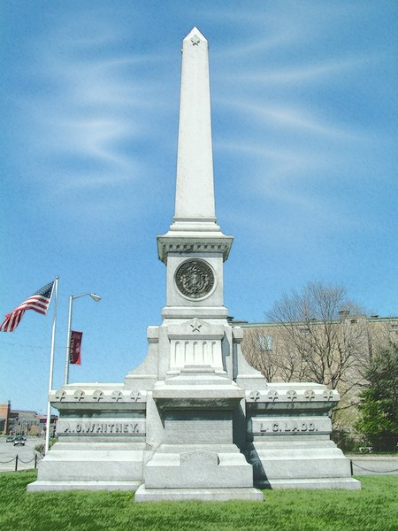 Ladd Whitney monument - Lowell, MA