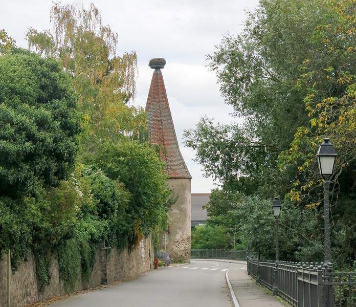 Stork's nest in Alsace.