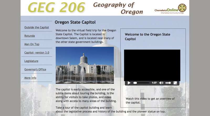 Oregon State Capitol - Virtual Field Trip
