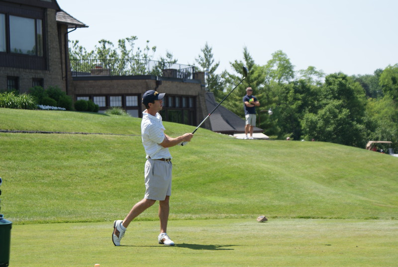 William Miller, from Georgia Tech, tees off on the par 4 10th at Springfield CC.