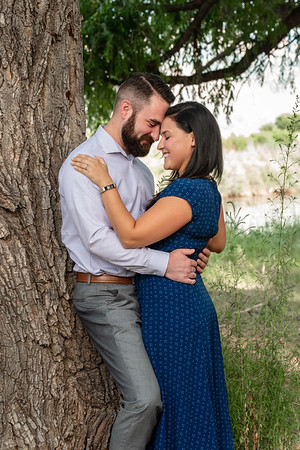 Summer Bosque Engagement Session Corrales New Mexico AJ & Gloria
