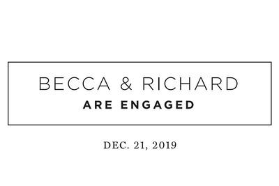 Richard & Becca Engaged 12/21/19