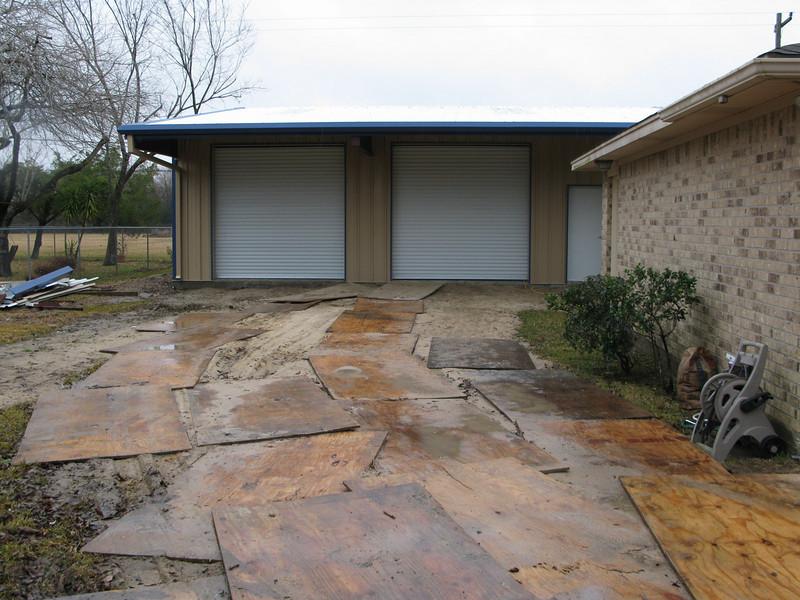 My driveway until the rain stops!!