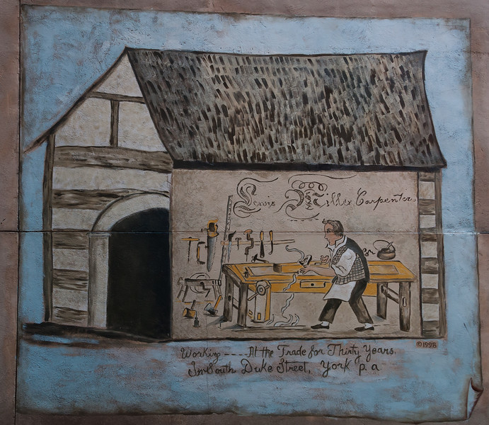 Mural of Carpenter Working at his Trade, York City PA