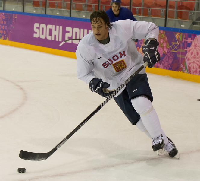 Teemu Selänne 18.2 training session