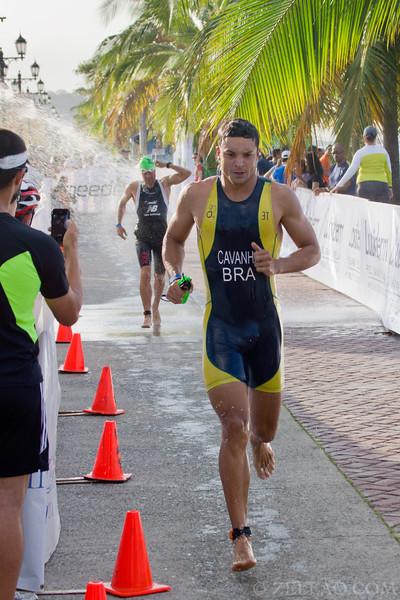 Mauro Cavanha from Brazil at Ironman 70.3, Panama 2013.