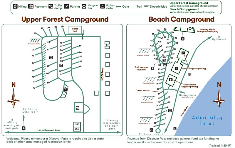 Fort Worden Historical State Park (Beach & Upper Forest Campgrounds)