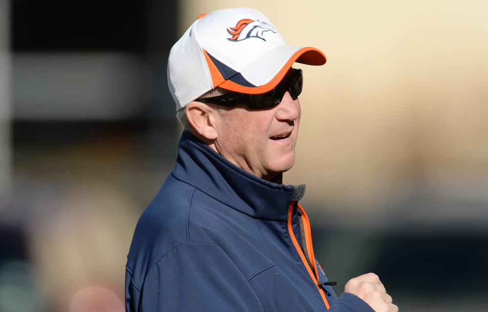 . Denver Broncos head coach John Fox is in the team practice at Dove Valley. Centennial Colorado. January 17. 2014. (Photo by Hyoung Chang/The Denver Post)