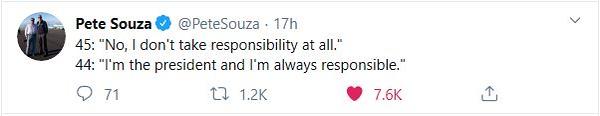 I don't take responsibility