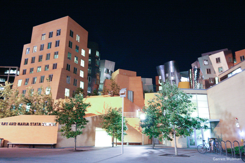 Stata Center at night