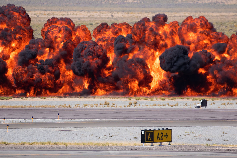 Texas Flying Legends' Pyro Charges