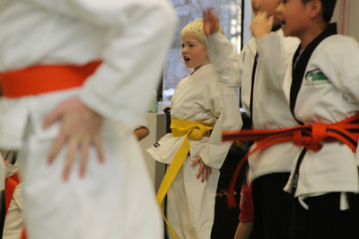 Karate Graduation - White to Yellow Dec 2010