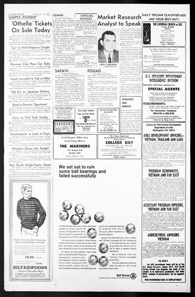 Daily Trojan, Vol. 57, No. 55, December 10, 1965