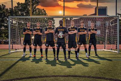 Men's Soccer Team and Seniors