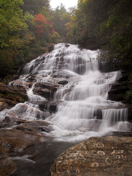 Second section of Glen Falls in the Nantahala National Forest.
