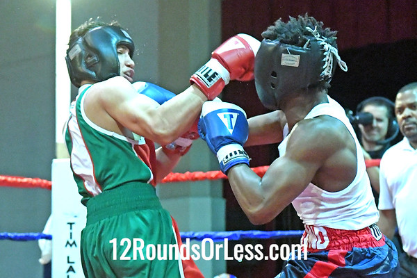 Bout 11 = Main Event  Armond Richards, Blue Gloves, Empire BC, Cleveland -vs- Omar Garcia, Red Gloves, Pittsburgh BC, Pittsburgh, PA, 141 Lbs