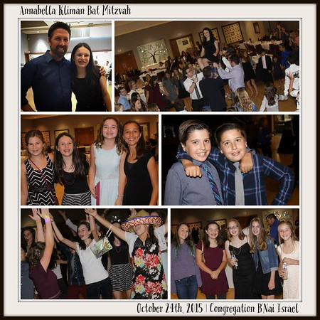 OCTOBER 24TH, 2015 | Annabella Kliman Bat Mitzvah
