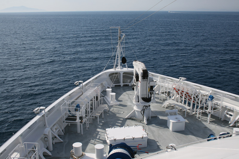 2011 - On board M/S L'AUSTRAL : bow operating station.