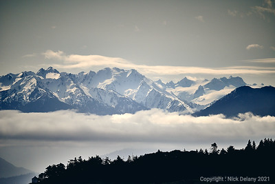 Olympic Mountains from Vancouver Island