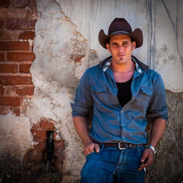 CU Potrait of Blue Shirt Cowboy With Cigarette Trinidad Cuba Jan 2012 H.jpg